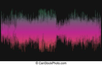 Pink halftone abstract design background in the form of wave.