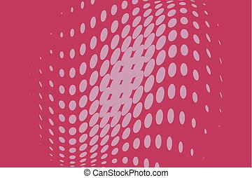 Pink Halftone dotted background. Pop art style. Retro pattern with circles, dots
