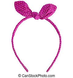 pink headband isolated on white background