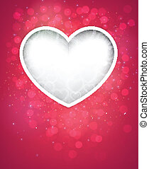 Pink heart background.