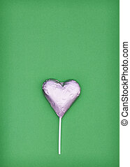 Pink heart chocolate shape, love