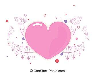 pink heart girl power