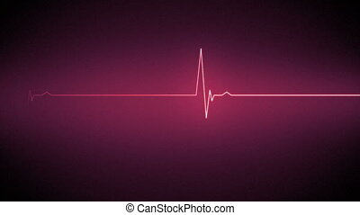 Pink heart monitor line
