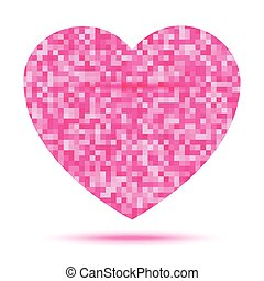 Pink Heart Pixel icon
