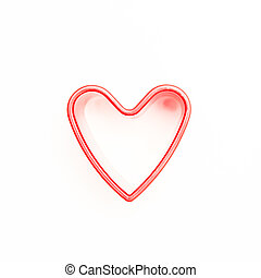 Pink heart shaped cookie cutter
