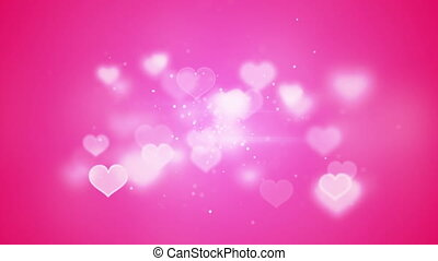 pink heart shapes bokeh loopable