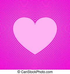 Pink heart symbol with offset lines. Template for use as a ...