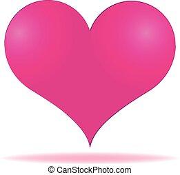 Pink heart valentines day