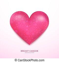 Pink heart vector illustration