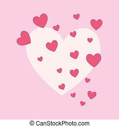 Pink hearts design