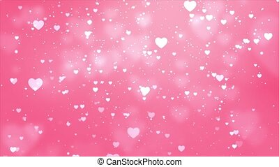 Pink Hearts Loop Background video used in several occasions ...