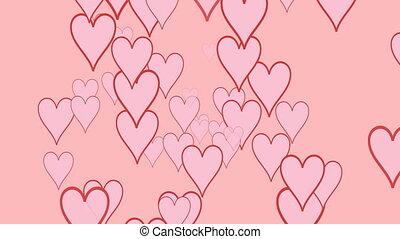 pink hearts of valentine