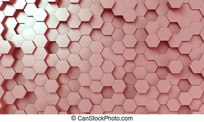 Pink hexagonal surface - Abstract pink hexagonal motion...