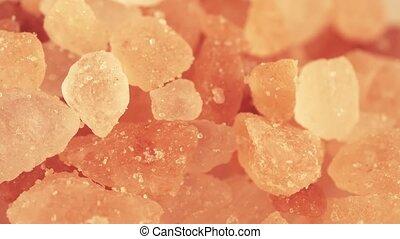 Pink Himalayan salt macro shot - Pink salt super macro shot