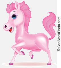 Pink horse cartoon