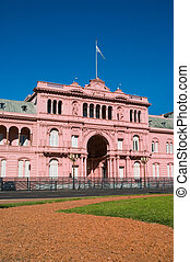 Pink house, Buenos Aires. - Pink house, official house of...