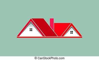 Pink House For Real Estate Logo