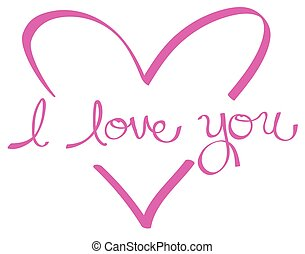 Pink I Love You Heart