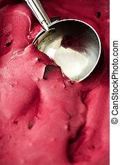 Pink ice cream scoop