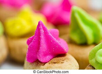 Pink Icing Cookies Background II