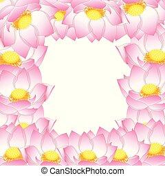 Pink Indian lotus Border2