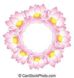 Pink Indian lotus Wreath