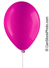 pink inflated air balloon