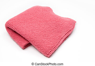 Pink Knitted Blanket - Pink baby blanket