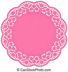 Pink Lace dolly - Decorative lace for Christmas, Valentine's...