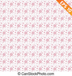 Pink lacy seamless pattern with polka dots.