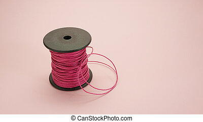 Pink leather rope reel (2)