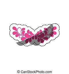 pink leaves decoration icon