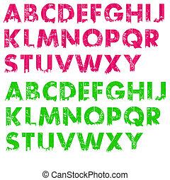 Pink & Lime Alphabet City Letters