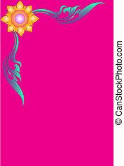 Pink line Thai design - Corner line Thai pink