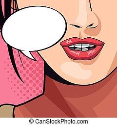 Pop art megaphone pink woman lips gtfo  Gtfo pop art