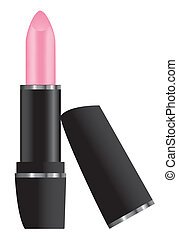 pink lipstick - vector pink lipstick isolated on white