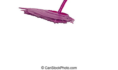 pink liquid flow falls down fills background. juice