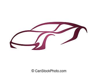 Pink logo of auto