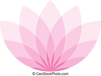 Pink lotus flower icon. Symbol of yoga and beauty. Vector illustration