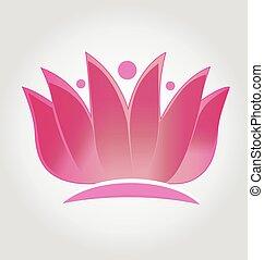 Pink lotus flower logo