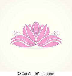 Pink lotus flower logo id card business