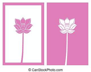 pink lotus flower vector