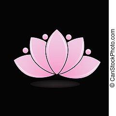 Pink lotus plant vector