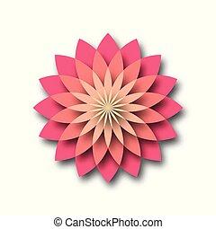 Pink lotus - symbol of yoga, wellness, beauty and spa. Vector illustration