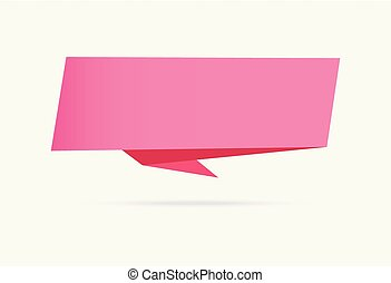 pink love banner origami ribbon paper infographic collection isolated on white background