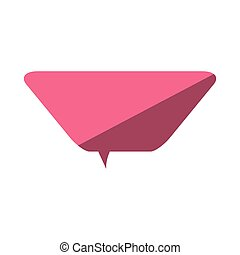 pink love bubble speech message dialog