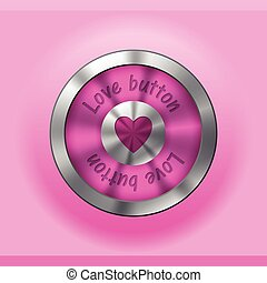 Pink love button design