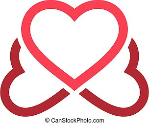 Pink Love Heart Logo Template Illustration Design. Vector EPS 10.