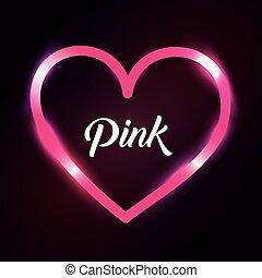 pink love heart romantic passion light dark background