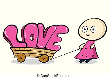 Pink love on the cart